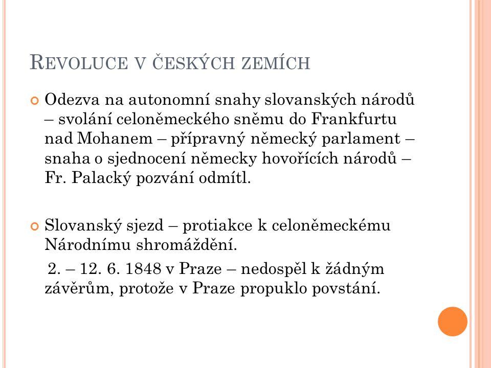 P RAŽSKÉ POVSTÁNÍ 12.– 17. 6.