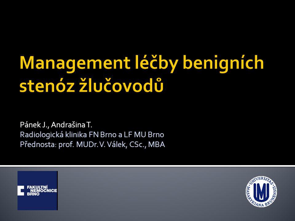 Pánek J., Andrašina T. Radiologická klinika FN Brno a LF MU Brno Přednosta: prof. MUDr. V. Válek, CSc., MBA