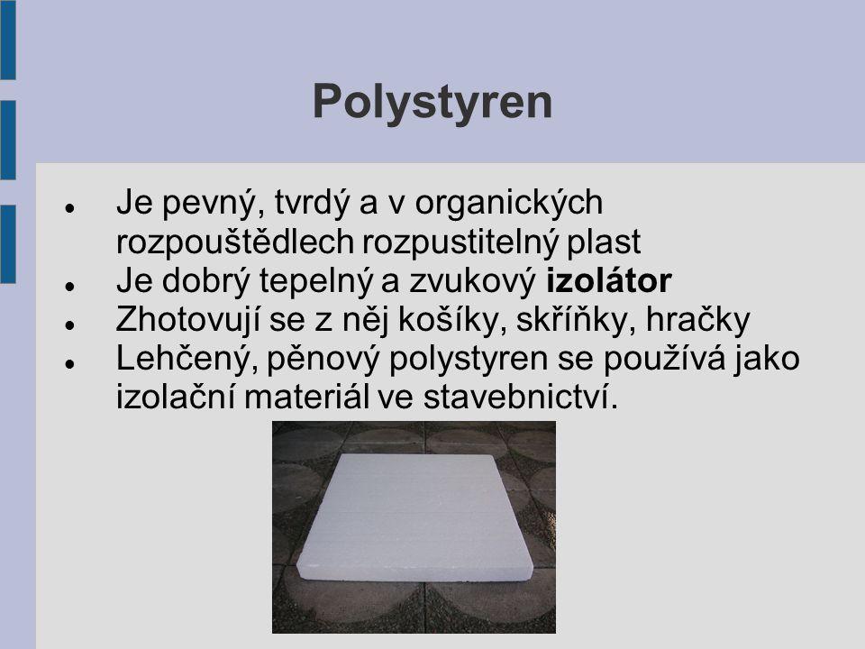 Syntetická vlákna Jsou pevná, pružná a trvanlivá Nahrazují len a bavlnu v oděvech Vyrábí se z nich oděvy, silonky, dekorační předměty, koberce, lana Příklady: silonová vlákna, lycra, nylon, polyakryl, polyamid, polyester Podívejte se na cedulku svého oblečení, je vyrobeno ze syntetických vláken nebo z přírodních materiálů?