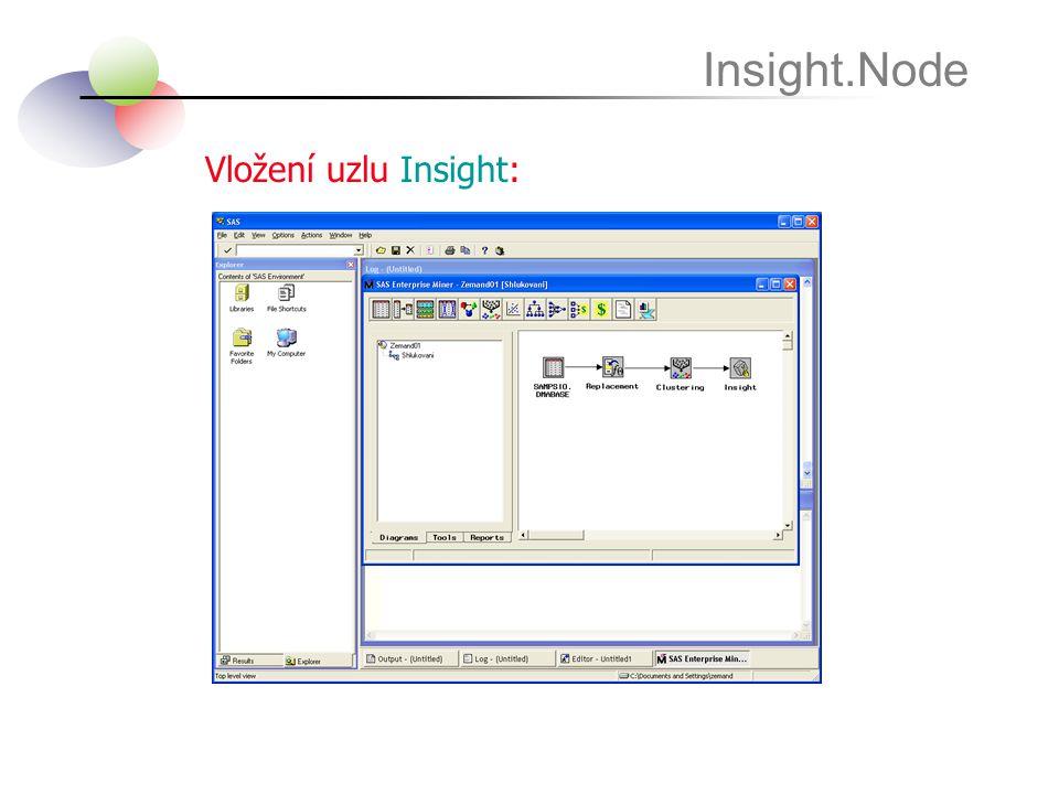 Vložení uzlu Insight: Insight.Node