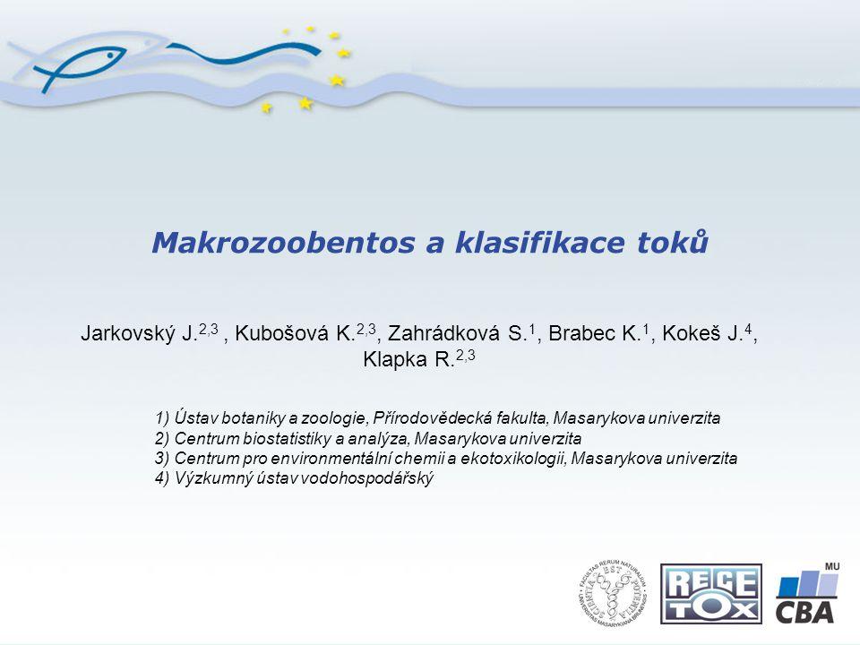 Makrozoobentos a klasifikace toků Jarkovský J.2,3, Kubošová K.