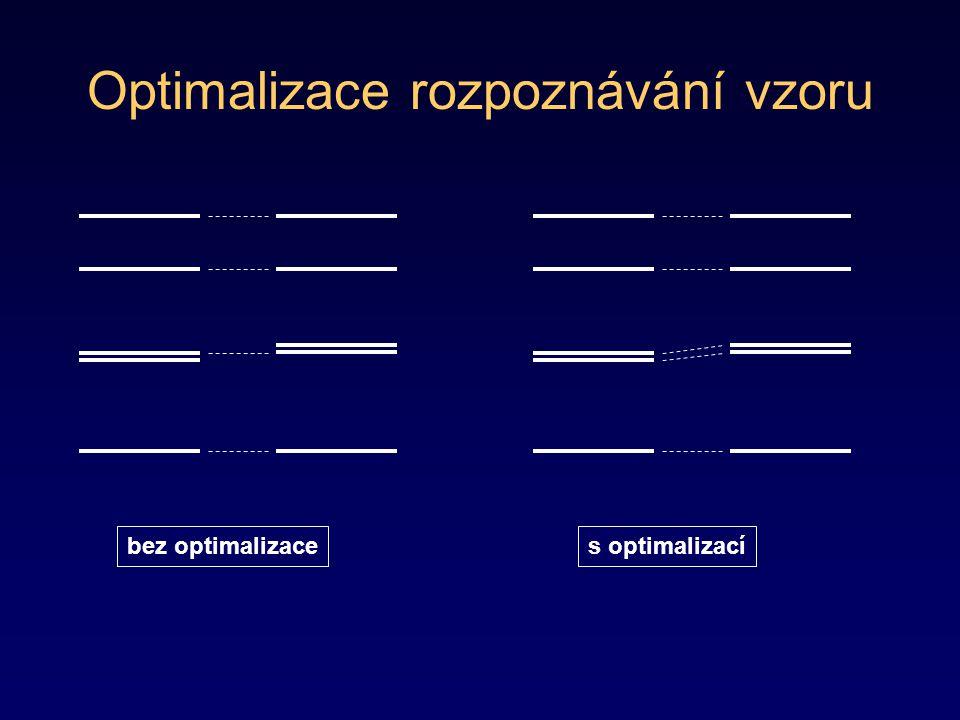 Optimalizace rozpoznávání vzoru bez optimalizaces optimalizací