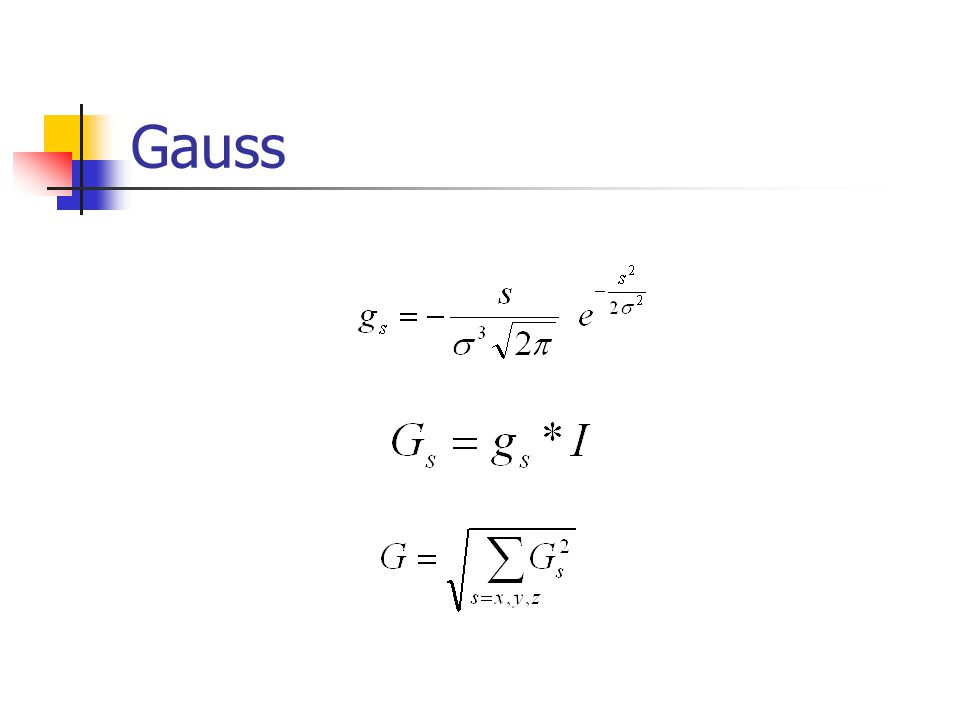 Výpočet průměrného poloměru jádra Vypočet velikosti a směru gradientu v obraze – aplikace Gaussova filtru.