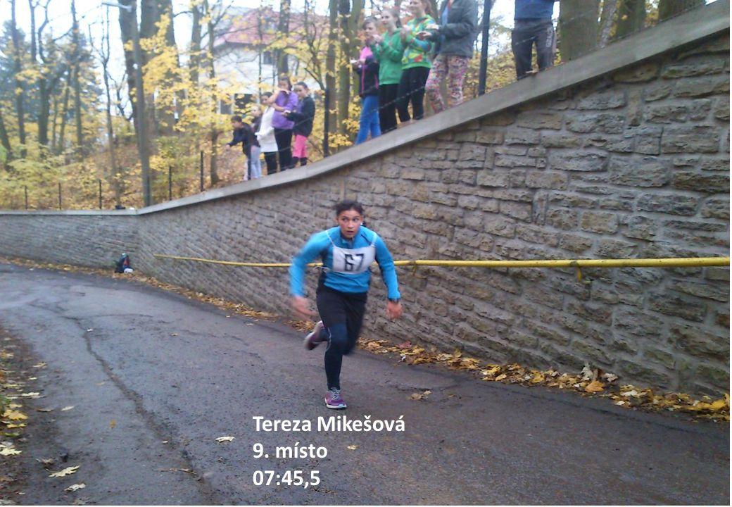 Tereza Mikešová 9. místo 07:45,5