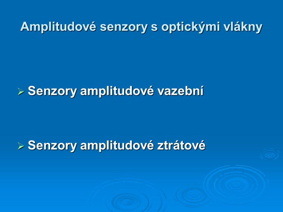 Amplitudové senzory s optickými vlákny  Senzory amplitudové vazební  Senzory amplitudové ztrátové