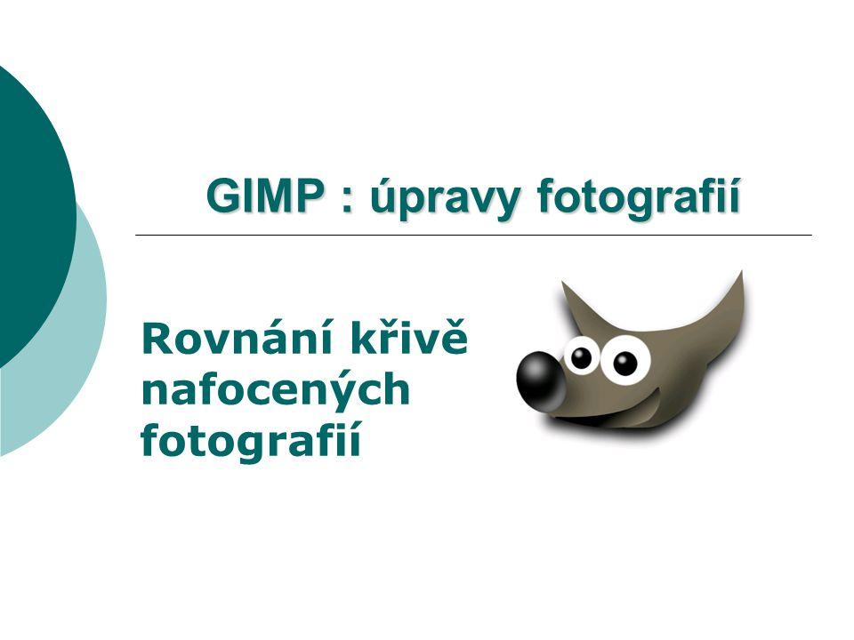 GIMP : úpravy fotografií Rovnání křivě nafocených fotografií