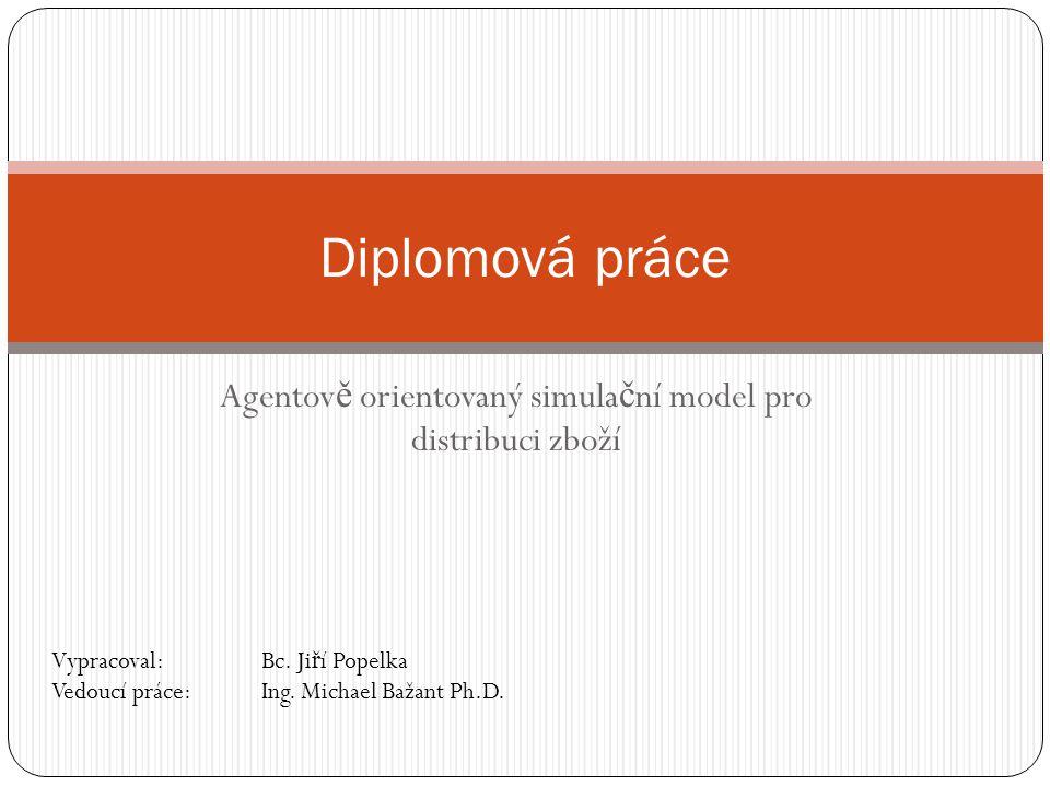Agentov ě orientovaný simula č ní model pro distribuci zboží Diplomová práce Vypracoval: Bc.