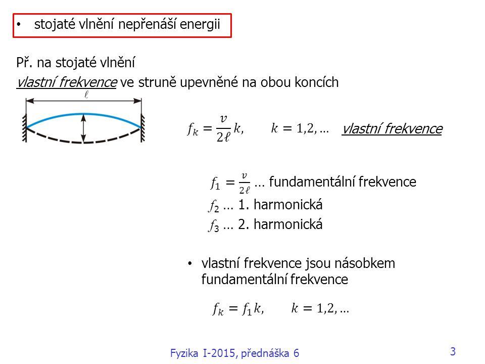 3 vlastní frekvence Fyzika I-2015, přednáška 6