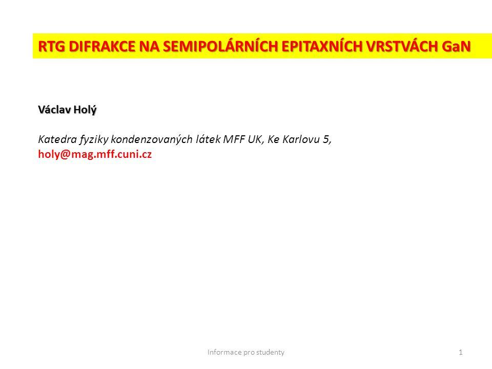Informace pro studenty12 Cíle bakalářské práce: 1.