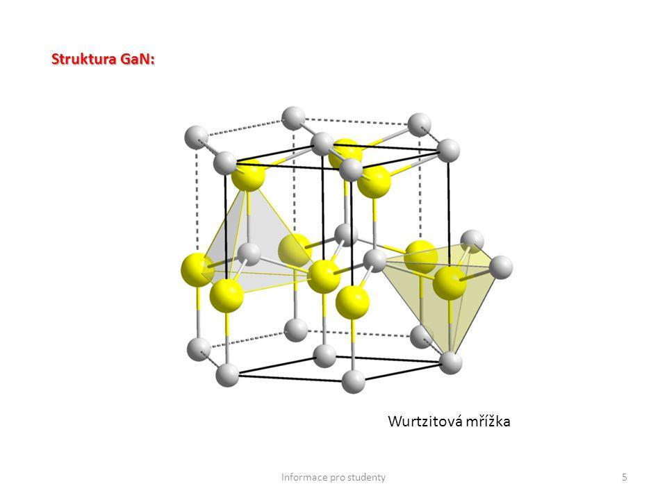 5 Struktura GaN: Wurtzitová mřížka