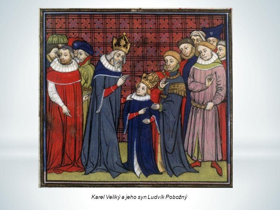 Karel Veliký a jeho syn Ludvík Pobožný