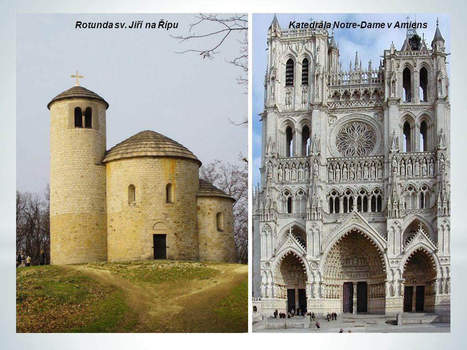 Rotunda sv. Jiří na ŘípuKatedrála Notre-Dame v Amiens