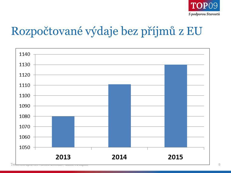 Tento text upravíte v menu: Zobrazit / Záhlaví a zápatí8 Rozpočtované výdaje bez příjmů z EU