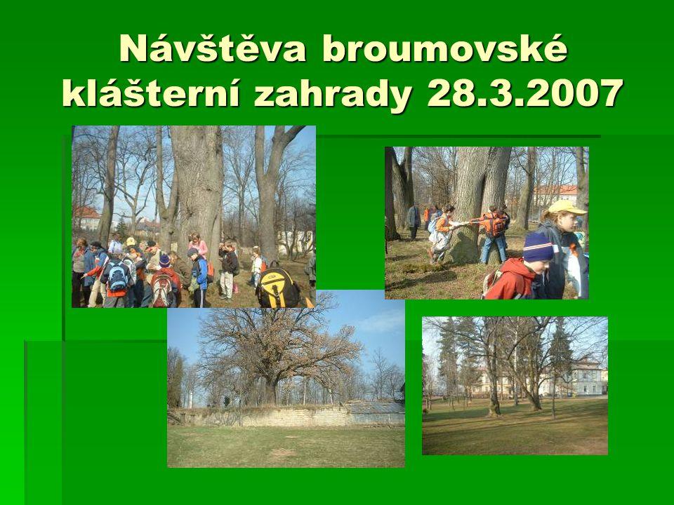 Návštěva broumovské klášterní zahrady 28.3.2007