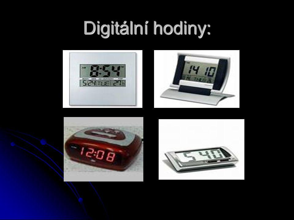 Digitální hodiny: