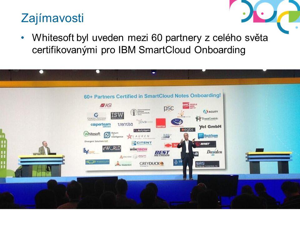 Zajímavosti Whitesoft byl uveden mezi 60 partnery z celého světa certifikovanými pro IBM SmartCloud Onboarding