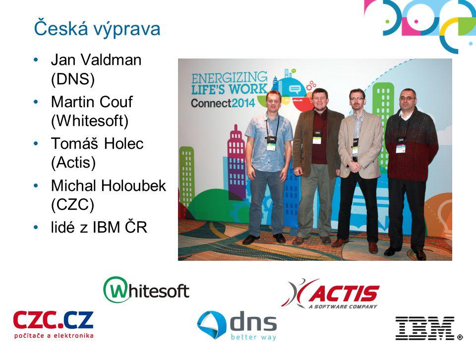 Jan Valdman (DNS) Martin Couf (Whitesoft) Tomáš Holec (Actis) Michal Holoubek (CZC) lidé z IBM ČR Česká výprava