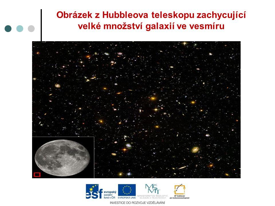 Obrázek z Hubbleova teleskopu zachycující velké množství galaxií ve vesmíru
