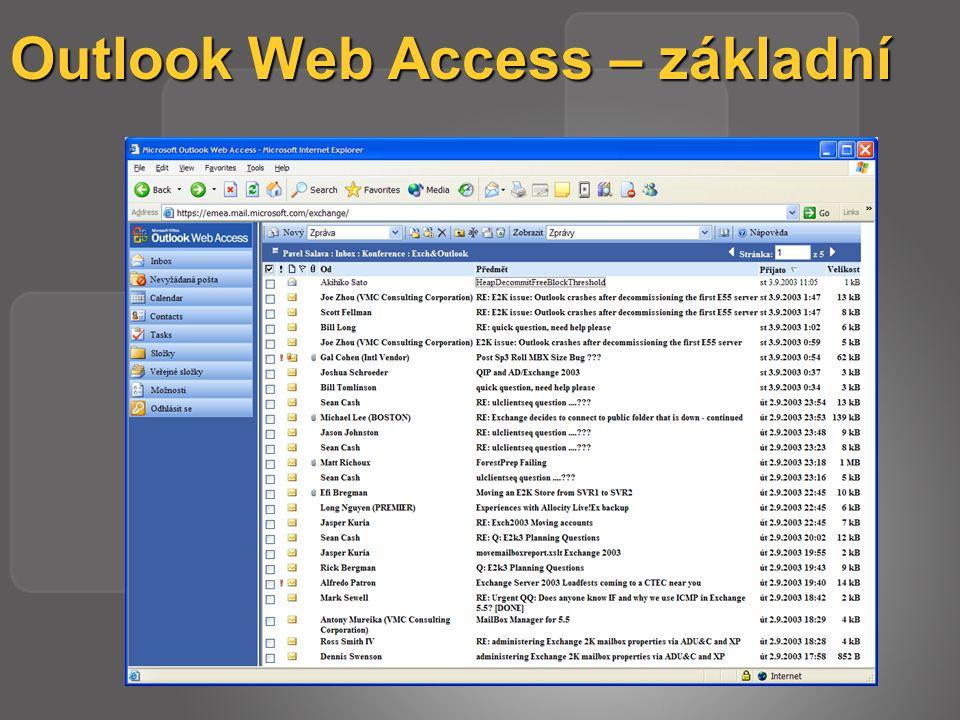 Outlook Web Access – základní