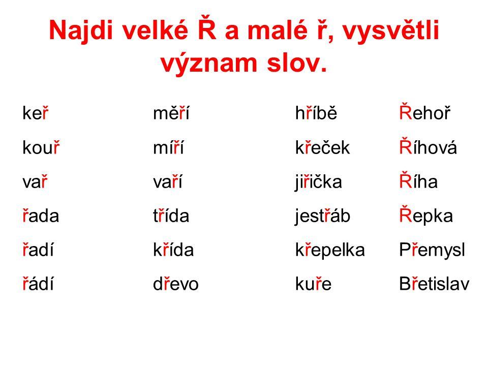 Spočítej počet písmen v každém slově.