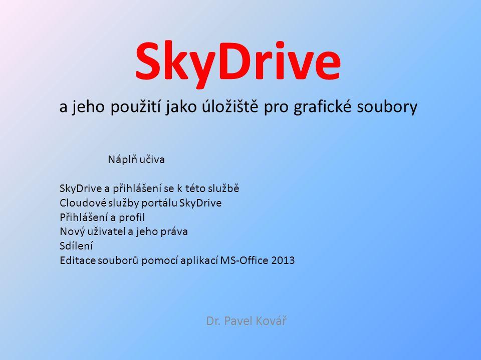 SkyDrive a jeho použití jako úložiště pro grafické soubory Dr.