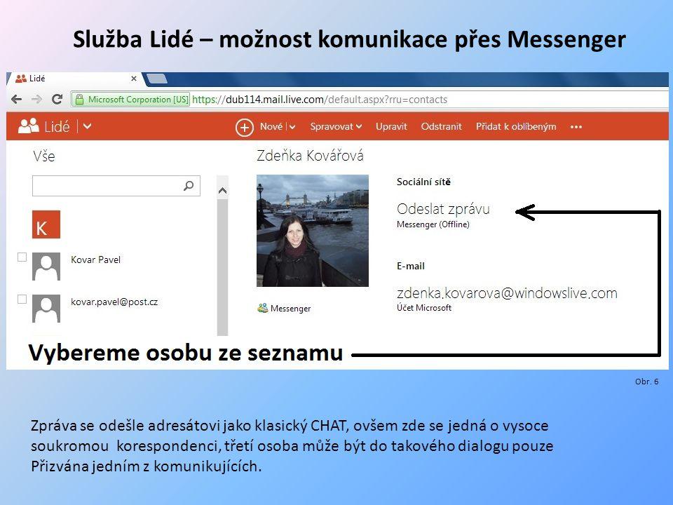 """Adresát přijal CHAT, na který může """"JUST IN TIME odpovídat Jako součást komunikačních možností je zde zabudována i služba Skype, portál SkyDrive tedy nabízí i bezplatnou hlasovou a obrazovou komunikaci účastníků, službu Skype, zde nebudu pro její všeobecnou známost popisovat, v rámci portálu, který je předmětem této prezentace, je jeho význam okrajový – Skype je jednou ze Služeb."""
