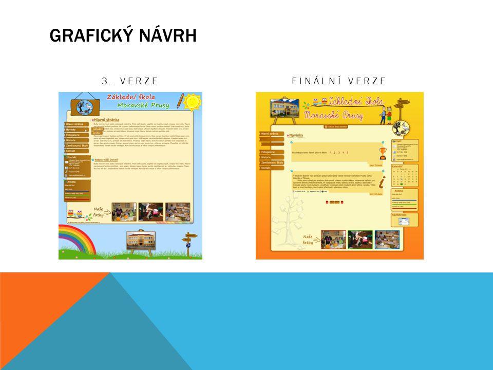 GRAFICKÝ NÁVRH 3. VERZEFINÁLNÍ VERZE