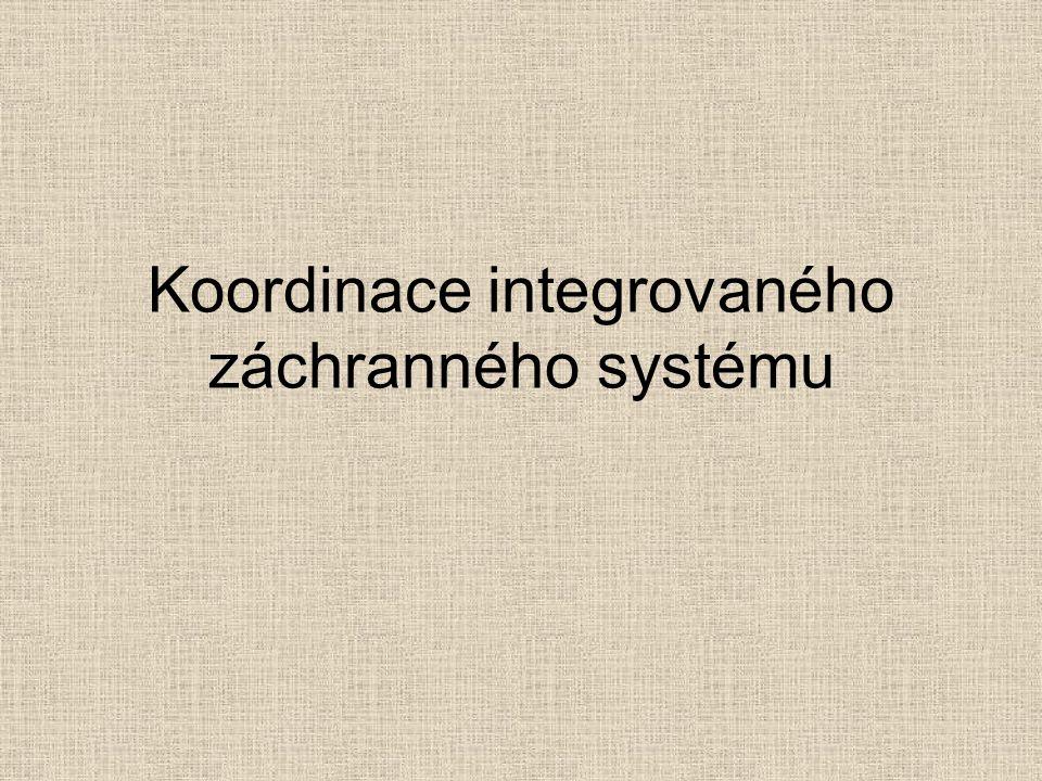 Koordinace integrovaného záchranného systému