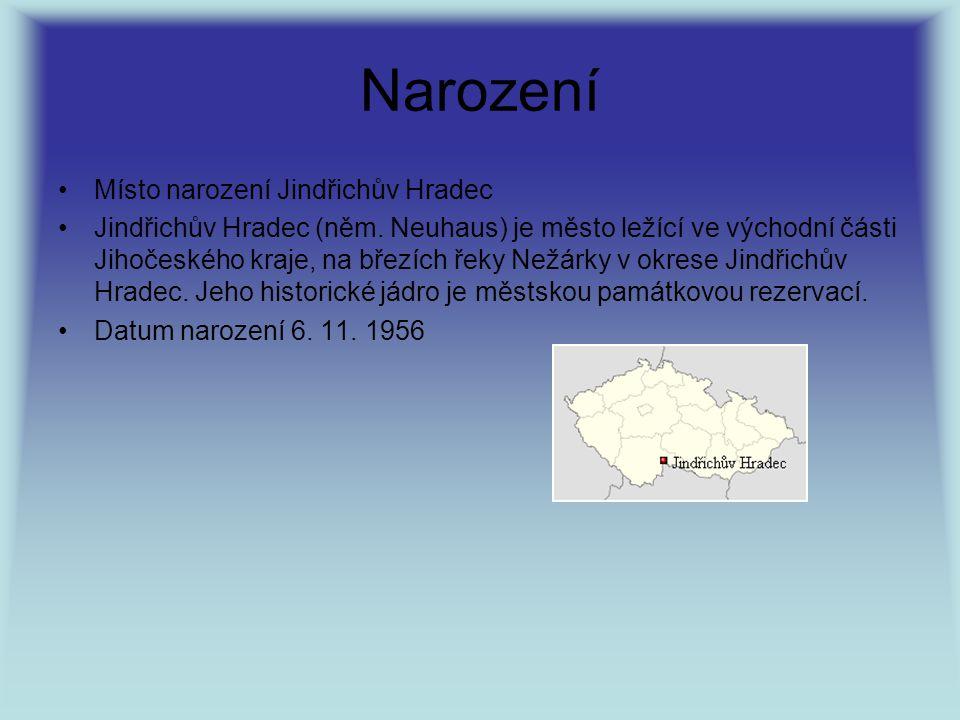 Narození Místo narození Jindřichův Hradec Jindřichův Hradec (něm. Neuhaus) je město ležící ve východní části Jihočeského kraje, na březích řeky Nežárk
