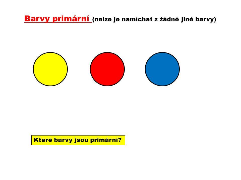 Barvy primární (nelze je namíchat z žádné jiné barvy) Které barvy jsou primární?