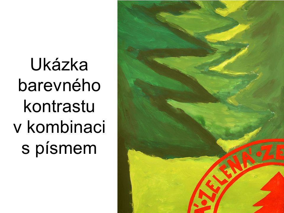 Ukázka barevného kontrastu v kombinaci s písmem
