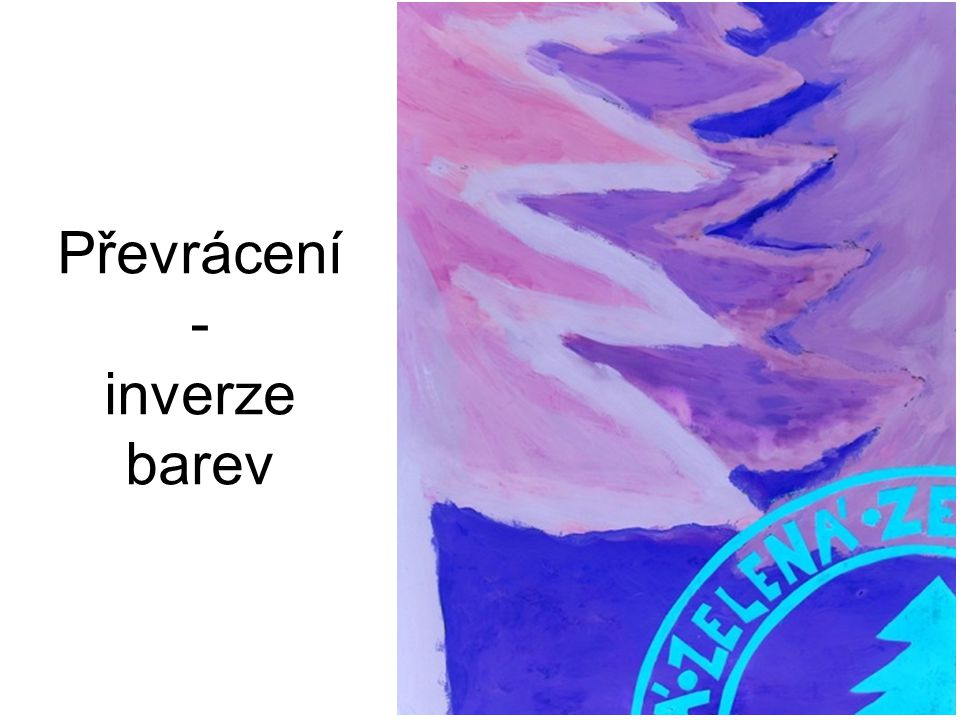 Převrácení - inverze barev