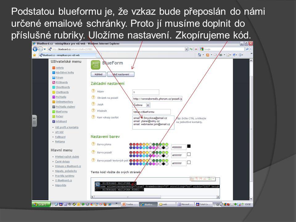 Na stránce otevřené v programu FrontPage nejdříve kurzorem označíme vhodnou pozici a přepneme do zobrazení HTML kódu