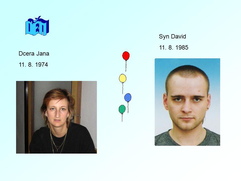 Dcera Jana 11. 8. 1974 Syn David 11. 8. 1985