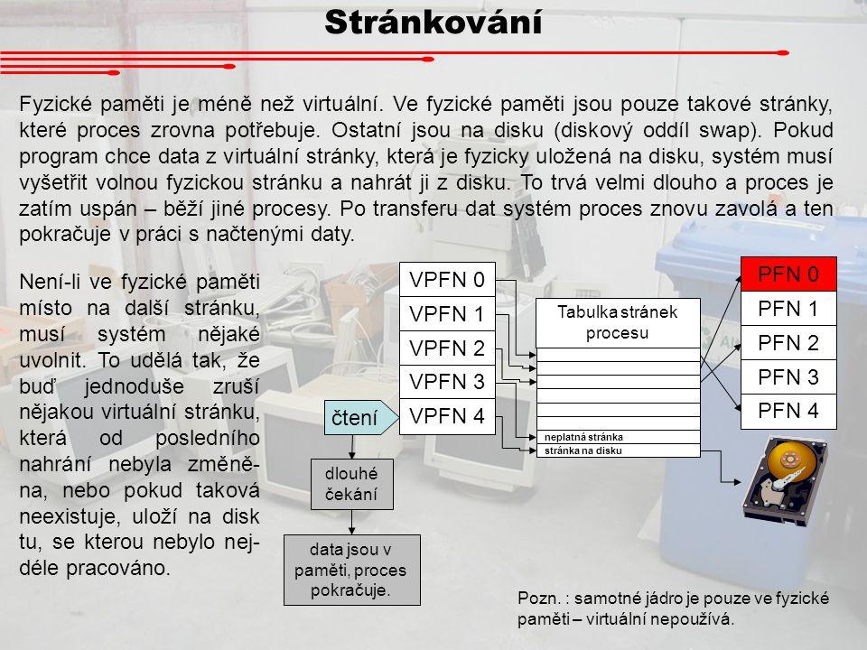 Procesy Procesy provádějí pod operačním systémem úlohy.