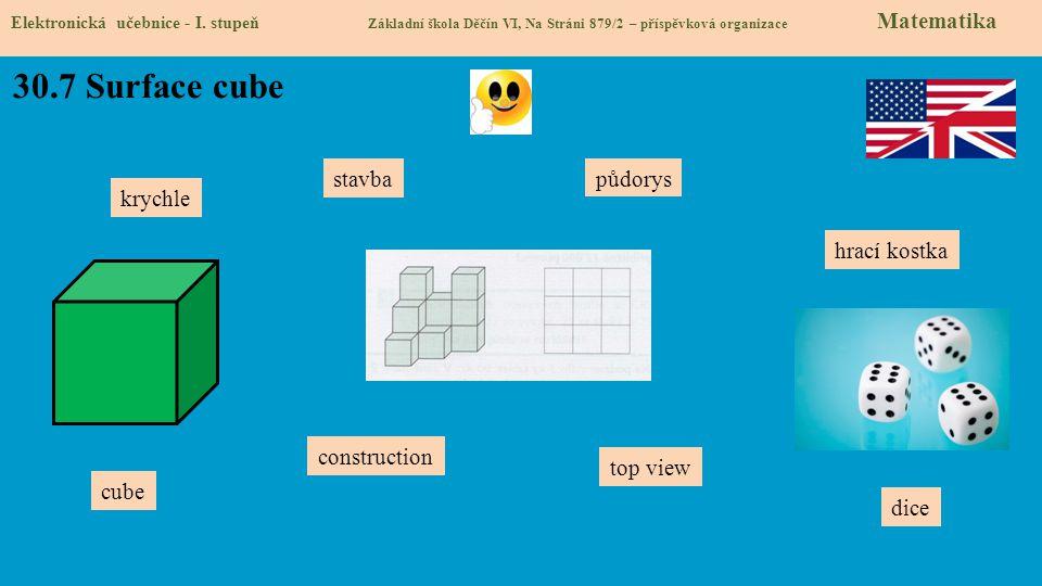 30.7 Surface cube Elektronická učebnice - I. stupeň Základní škola Děčín VI, Na Stráni 879/2 – příspěvková organizace Matematika construction top view