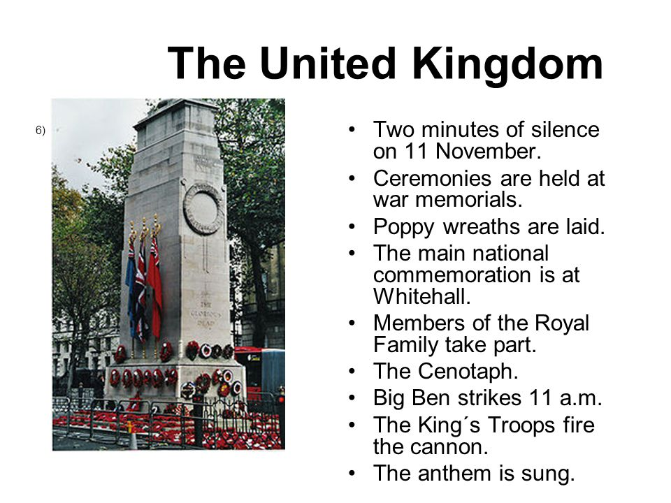 Canada A public holiday.7) Ceremonies are held at the National War Memorial in Ottawa.