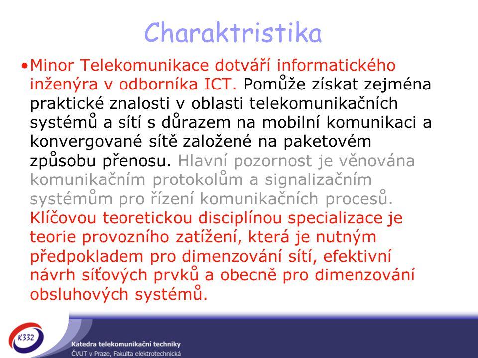 Charaktristika Minor Telekomunikace dotváří informatického inženýra v odborníka ICT.