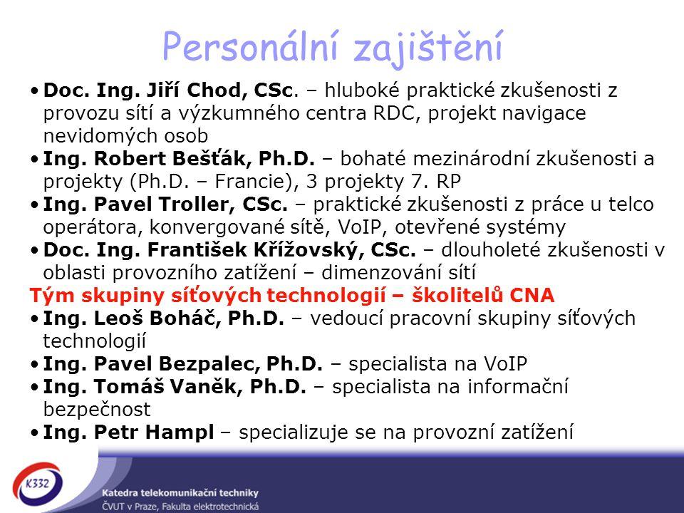 Personální zajištění Doc.Ing. Jiří Chod, CSc.