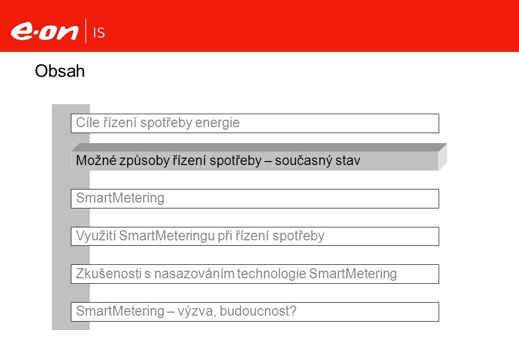 Využití SmartMeteringu pro řízení spotřeby Na straně dodavatele Na straně odběratele