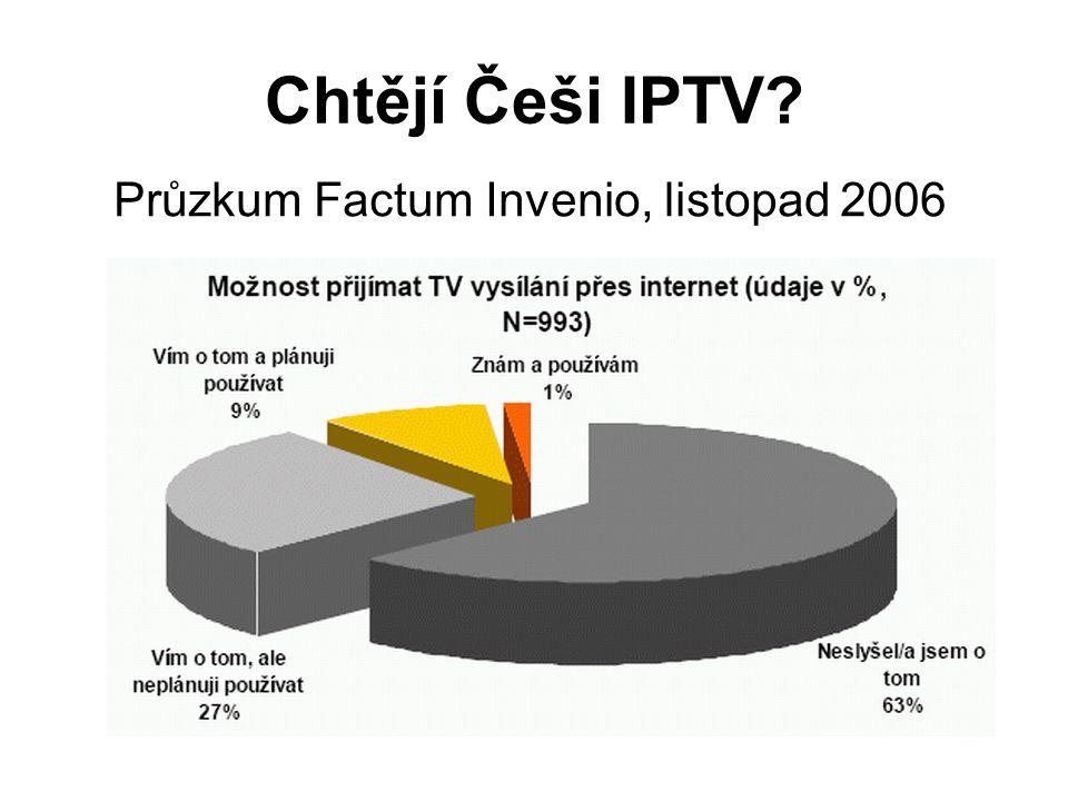 Chtějí Češi IPTV? Průzkum Factum Invenio, listopad 2006