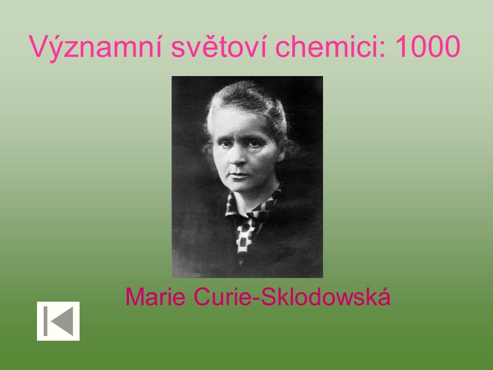 Významní světoví chemici: 1000 Marie Curie-Sklodowská