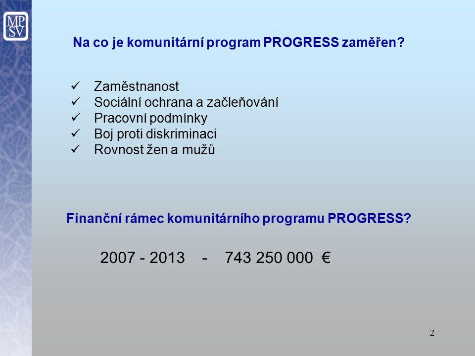 1 Komunitární program PROGRESS Jitka Zukalová, MPSV, oddělení Evropské unie