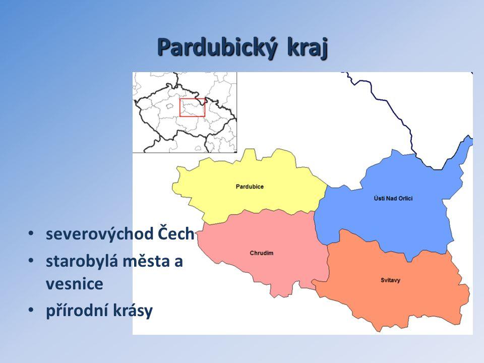 Pardubickýkraj Pardubický kraj severovýchod Čech starobylá města a vesnice přírodní krásy
