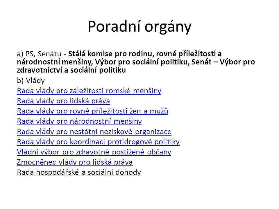 Ústřední orgány vlády - MPSV MPSV (od r.