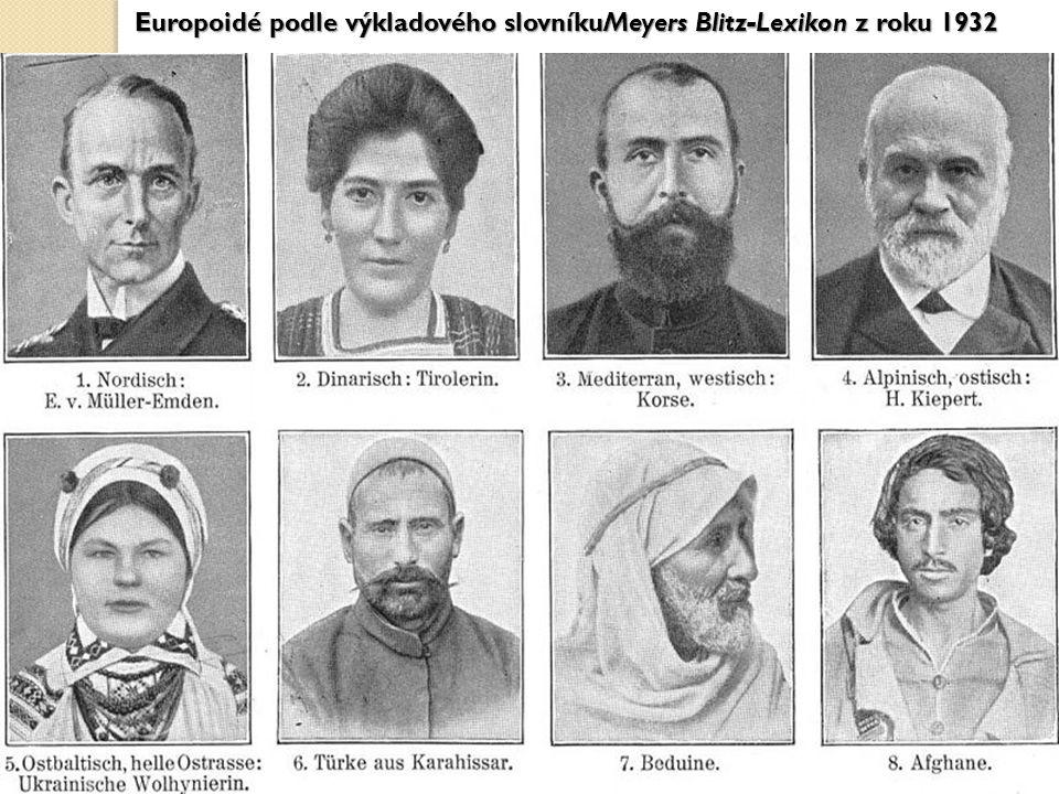 Europoidé podle výkladového slovníkuMeyers Blitz-Lexikon z roku 1932