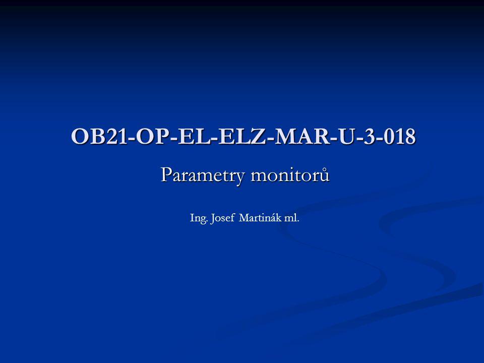 Úhlopříčka Velikost monitoru se obvykle udává v palcích jako vzdálenost mezi protilehlými rohy obrazovky.