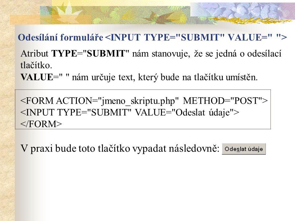 Atribut TYPE=