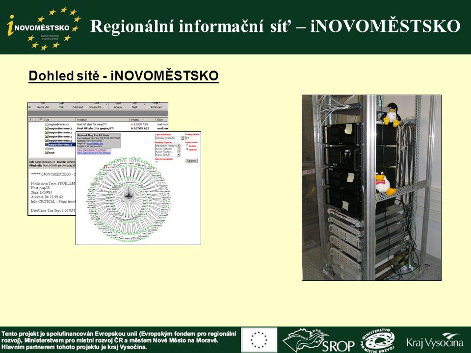 Regionální informační síť – iNOVOMĚSTSKO Dohled sítě - iNOVOMĚSTSKO