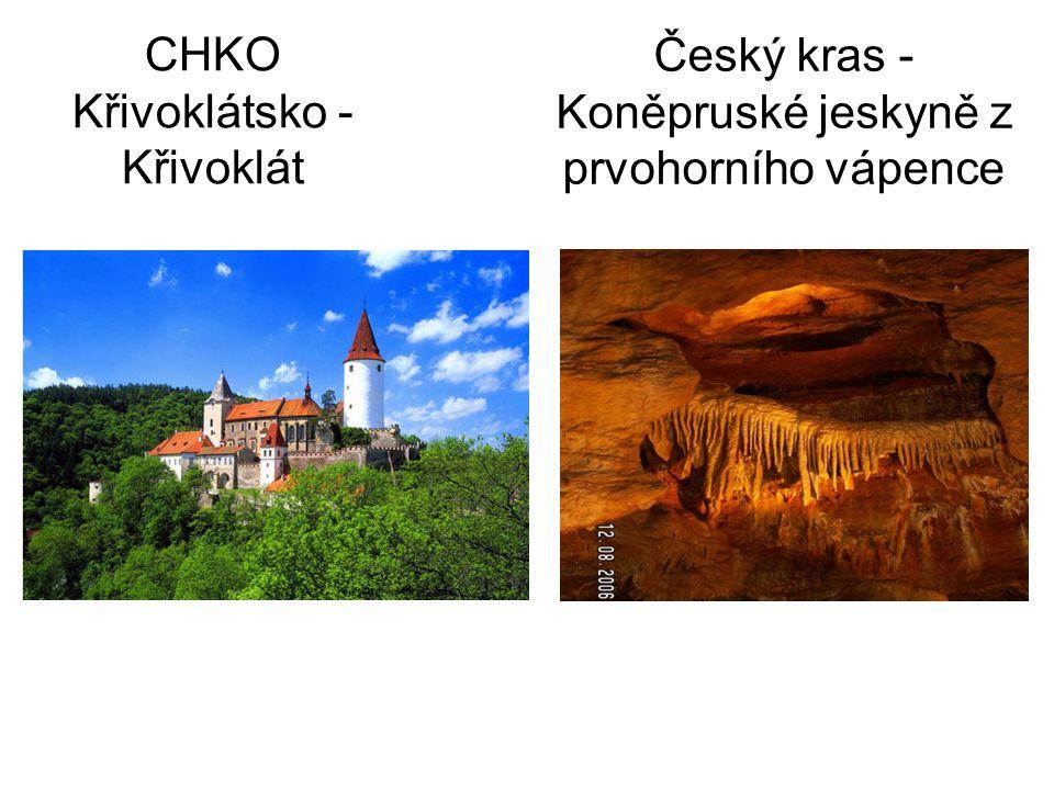 CHKO Křivoklátsko - Křivoklát Český kras - Koněpruské jeskyně z prvohorního vápence